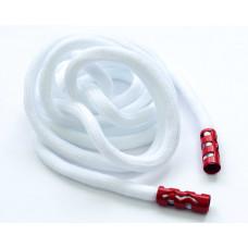 Шнурок с декоративным наконечником Шнур-004-белый 134 см