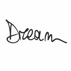 """127012 Термотрансфер """"Dream"""" черный"""