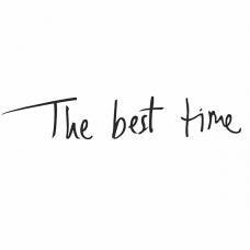 """127014 Термотрансфер """"The best time"""" черный"""