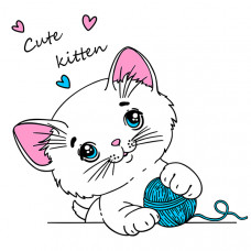 "127017 Термотрансфер ""Cute kitten"""
